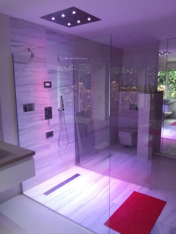 R alisation d 39 une salle de bain lemoine dazy for Paroi vitree interieure