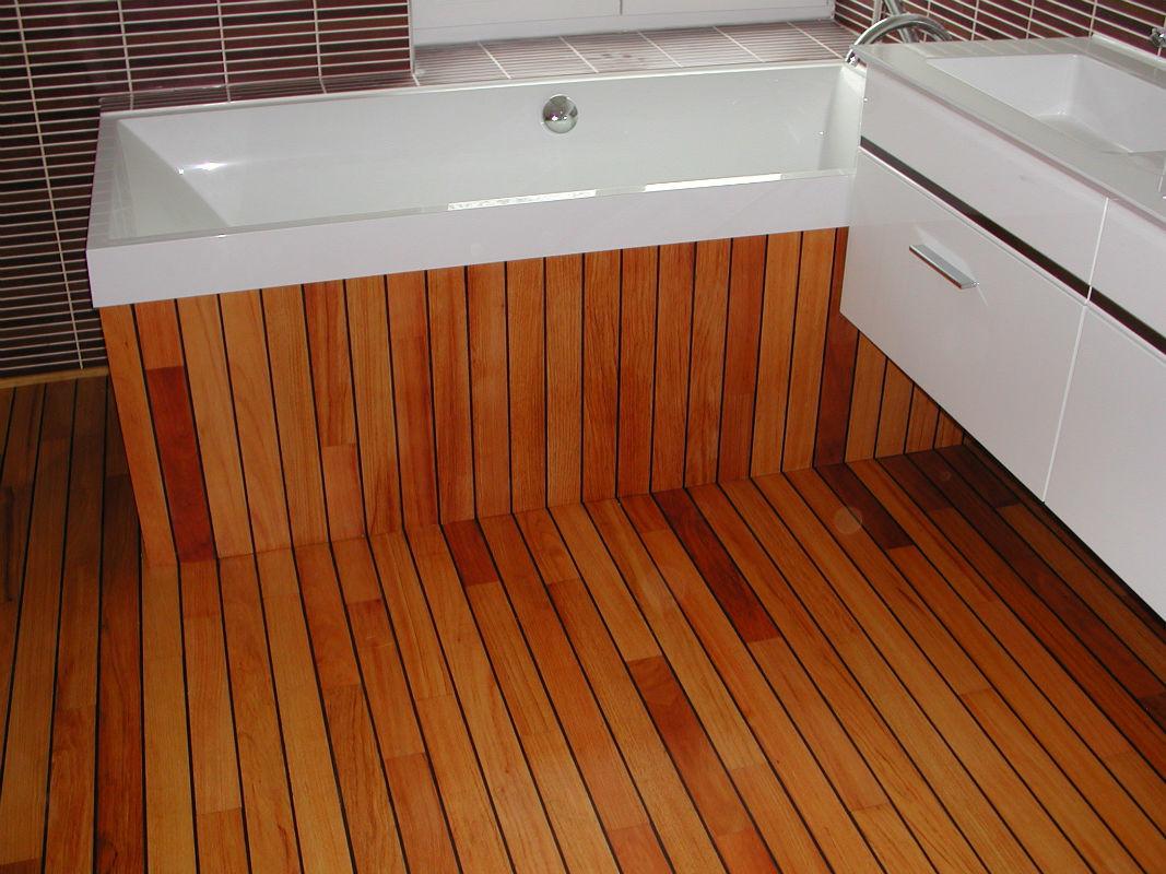Parquet type pont de bateau habillage de baignoire lemoine dazy menuiserie g n rale - Parquet pont de bateau joint integre ...