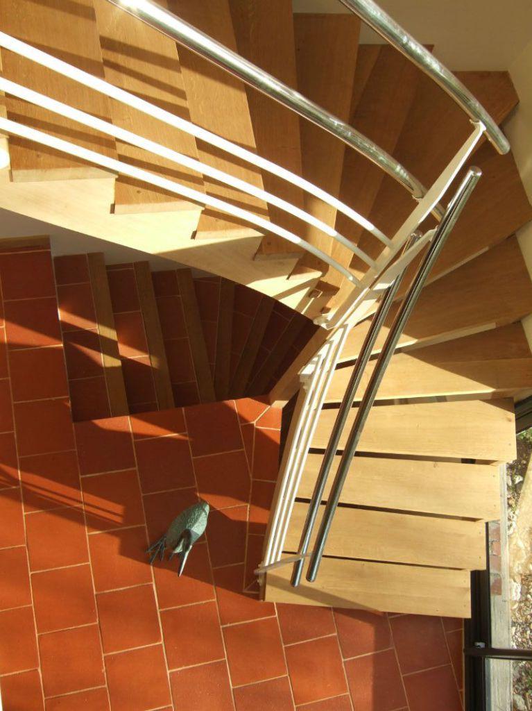 Escalier 1/4 tournant, Chêne.