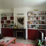 Bibliothèque avec placard en soubassement