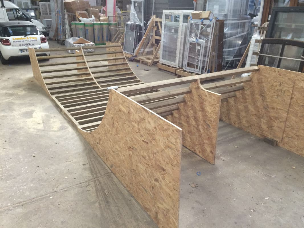 fabrication d 39 une rampe de skate lemoine dazy menuiserie g n rale darn tal 76. Black Bedroom Furniture Sets. Home Design Ideas